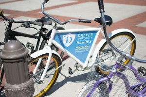 Ads on wheels · Students pay a yearly deposit for free bicycles. The company is funded by advertisement revenue from the bicycle itself. - Mariya Dondonyan | Daily Trojan