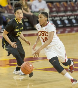 Gone baby gone · Senior guard Ariya Crook led USC in points per game last season while helping her team reach the NCAA Tournament.  Crook was dismissed from the team for a violation of team and school policy. - Benjamin Dunn | Daily Trojan