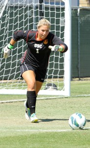 No score zone · Senior goalkeeper and co-captain Caroline Stanley only allowed two goals in two games this weekend at the Notre Dame Adidas Invitational. She has only allowed three goals in four games this season. - Ralf Cheung | Daily Trojan