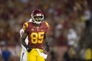 Former USC wide receiver Victor Blackwell was arrested on Wednesday night for a domestic violence incident involving his girlfriend. Blackwell was removed from the team by USC head coach Steve Sarkisian on Thursday morning. — Ralf Cheung   Daily Trojan