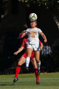 Junior midfielder Sydney Sladek scored a goal as the Trojans defeated Kansas on Friday for their sixth straight win - Brian Ji | Daily Trojan