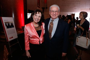 Proud benefactors ·  Margee and Douglas Greenberg, above, gave a gift to the USC Shoah Foundation Center for Advanced Genocide Studies to endow a fellowship in their name, which was awarded to Jared McBride, Ph.D. - Photo courtesy of the USC Shoah Foundation