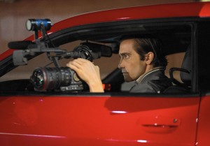 Meet the creeper  · Jake Gyllenhaal plays unscrupulous crime reporter Lou Bloom in writer-director Dan Gilroy's nocturnal thriller Nightcrawler, which was filmed on-location in Los Angeles in the dead of night.  - Photo courtesy of Bold Films