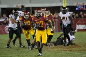 "Buck off · Redshirt junior tailback Javorius ""Buck"" Allen nearly sealed a win on Saturday night with a 53-yard rushing touchdown in the fourth quarter. Allen finished the game with 229 all-purpose yards and two touchdowns. - Joseph Chen 