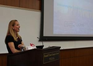 Human capital · Tara Roth, president of the Goldhirsh Foundation, said her organization aims to turn people's ideas into reality. - Christine Yoo | Daily Trojan