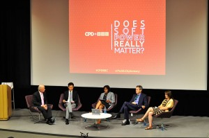 Soft power, hard choices · Panelists including Jay Wang, director of the USC Center on Public Diplomacy debated the role of soft power in international relations at a discussion on Thursday night.  - Linda Hsu   Daily Trojan
