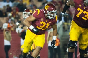 Comeback trail · Redshirt junior fullback Soma Vainuku, who missed the past three games with injury, could see action on Thursday night after taking added reps in practice on Monday. Vainuku has six carries this season. - Mariya Dondonyan | Daily Trojan