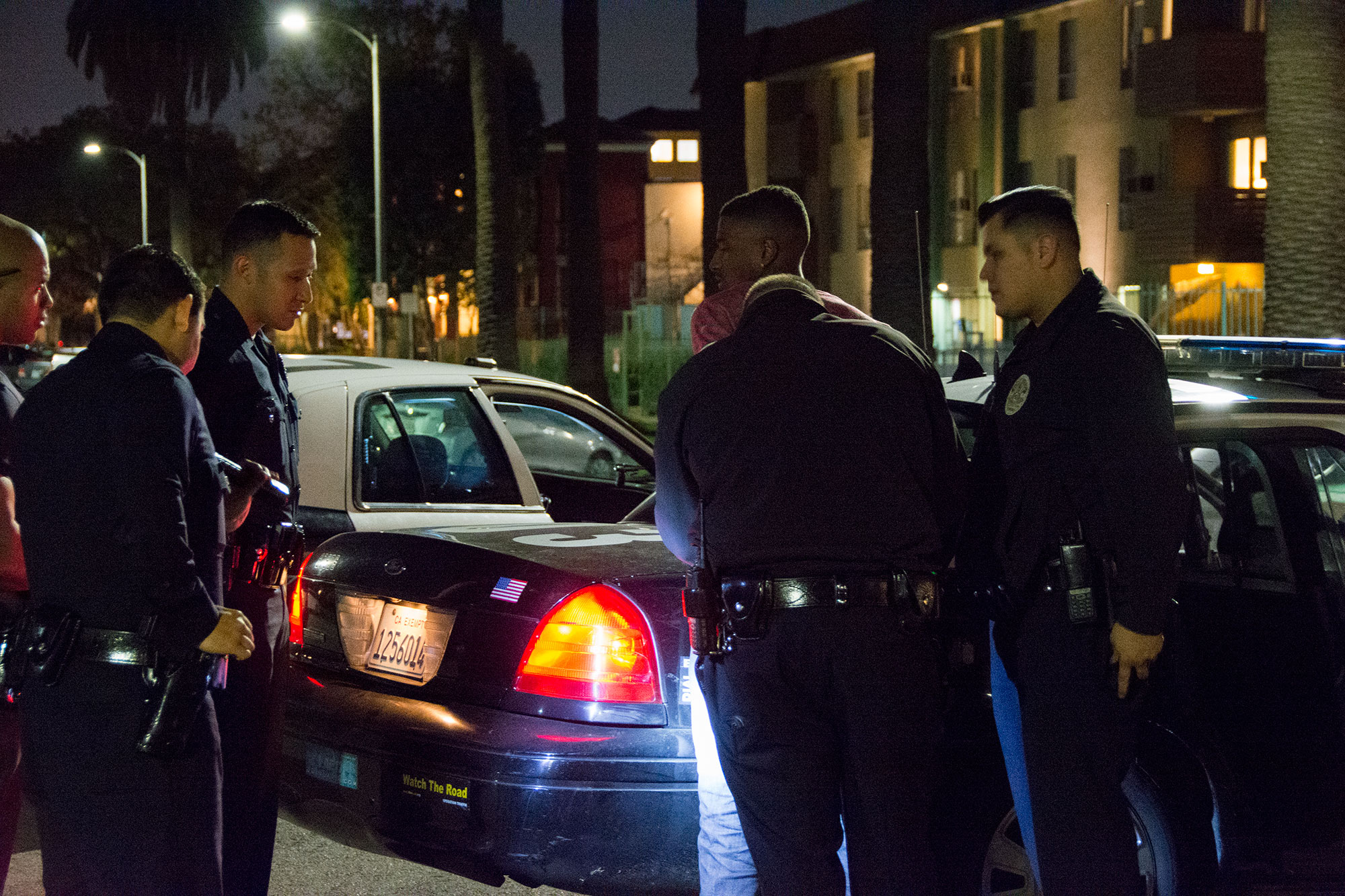 LAPD took the suspect into custody at approximately 7:37 p.m. | Mariya Dondonyan