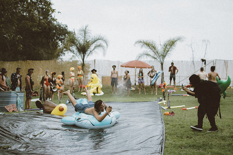 Slip n Slide at the Inaugural Woogie Weekend in Silverado, CA July 17-19. Mariya Dondonyan | Daily Trojan