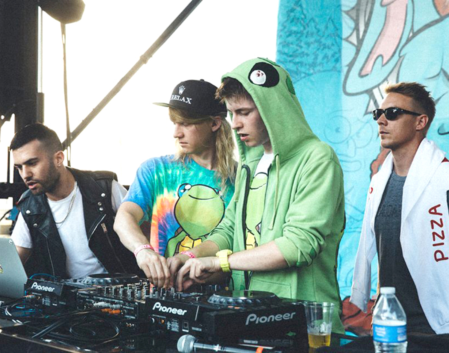 New kids on the block · Mad Decent Block Party is often a discovery point for electronic music enthusiasts. Here, DJs A-Trak, Cashmere Cat, Trippy Turtle and Diplo mix a set for an L.A. crowd in 2014. - Photo courtesy of Mad Decent