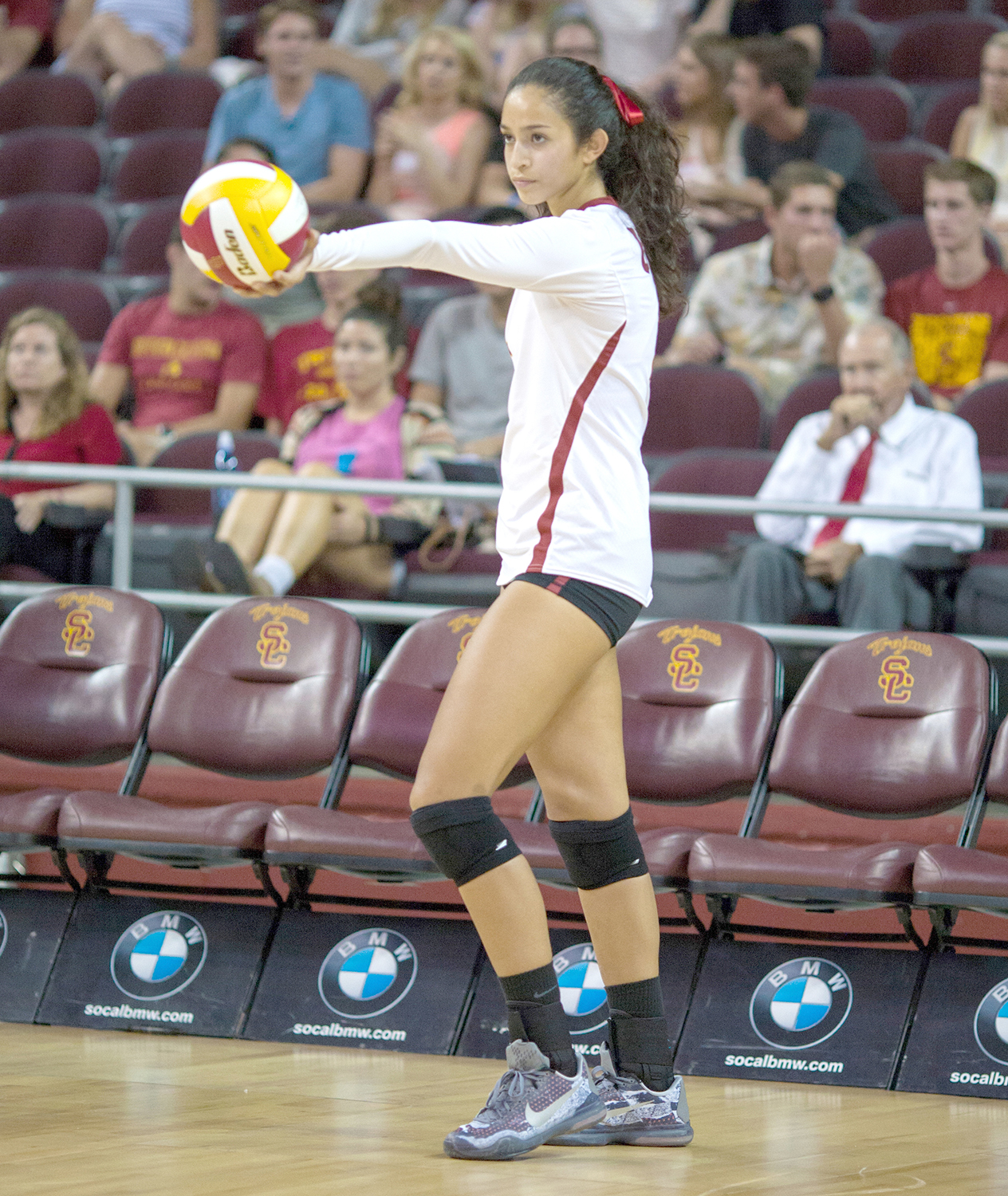Easy, breezy Bricio · Senior outside hitter Samantha Bricio led the Women of Troy with 24 kills and 18 digs in the win over North Carolina. It was her first double-double of the season, and the team went on to win the tournament. - Brian Ji | Daily Trojan