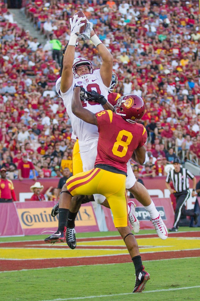 Big time player · Freshman cornerback Iman Marshall committed to USC as a five-star recruit last Feburary out of Long Beach Poly High School, which is also the alma mater of star wide receiver JuJu Smith-Schuster. - Nick Entin | Daily Trojan