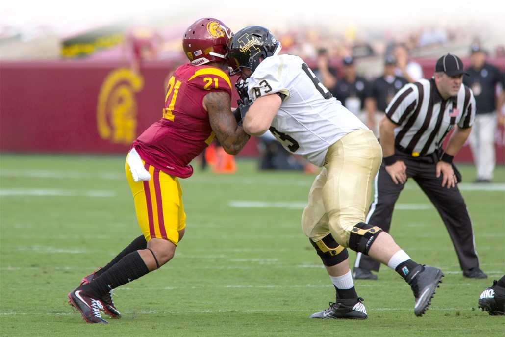 High impact · Students and alumni shared their experiences coping with the lasting impact of concussions. According to Popular Mechanics, a defensive back can exert up to 1,600 pounds of force per tackle. - Brian Ji | Daily Trojan