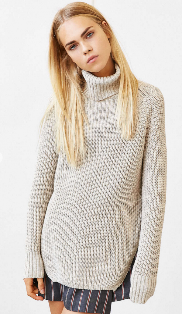 Urban Outfitters Silence + Noise Harley Shirttail Turtleneck Sweater $69