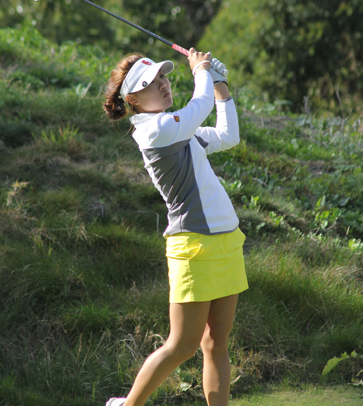 Beating Baylor · Junior Karen Chung has shot for par through 17 holes against Baylor. The Women of Troy lead the semifinal match 4-1. - Photo courtesy of USC Sports Information