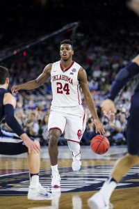 """Out too """"soon"""" · Buddy Hield's heroics were not enough to propel the Sooners to the championship game, as Oklahoma fell to Villanova. - Photo courtesy of Siandhara Bonnet 