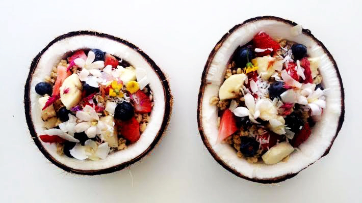 Taylor Gorski | Daily Trojan Coco for coconuts · The coconut acai bowl (above) is one of Amazebowls' most popular items. The store is known for its simple menu of five different acai and pitaya bowls, usually blended with hemp milk and berries.