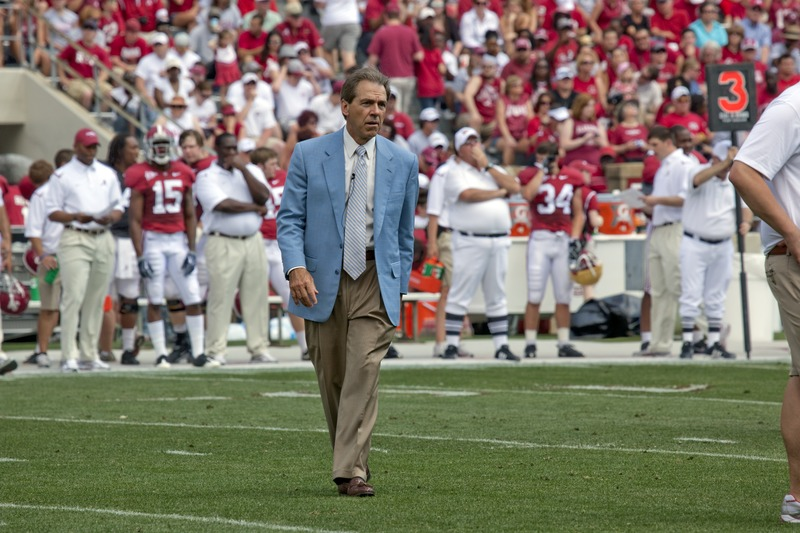Nick Saban has not been afraid to discipline players despite ongoing investigations - Photo courtesy of Library of Congress