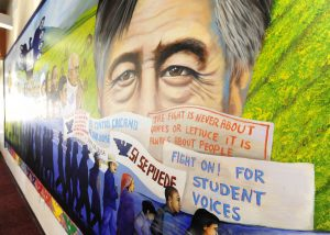 Photo courtesy of USC Student Affairs Honoring heritage · A mural in El Centro Chicano, USC's main Latino cultural organization, portrays the rich cultural history of people with a Hispanic background. El Centro plans to host numerous events to celebrate Hispanic Heritage Month.