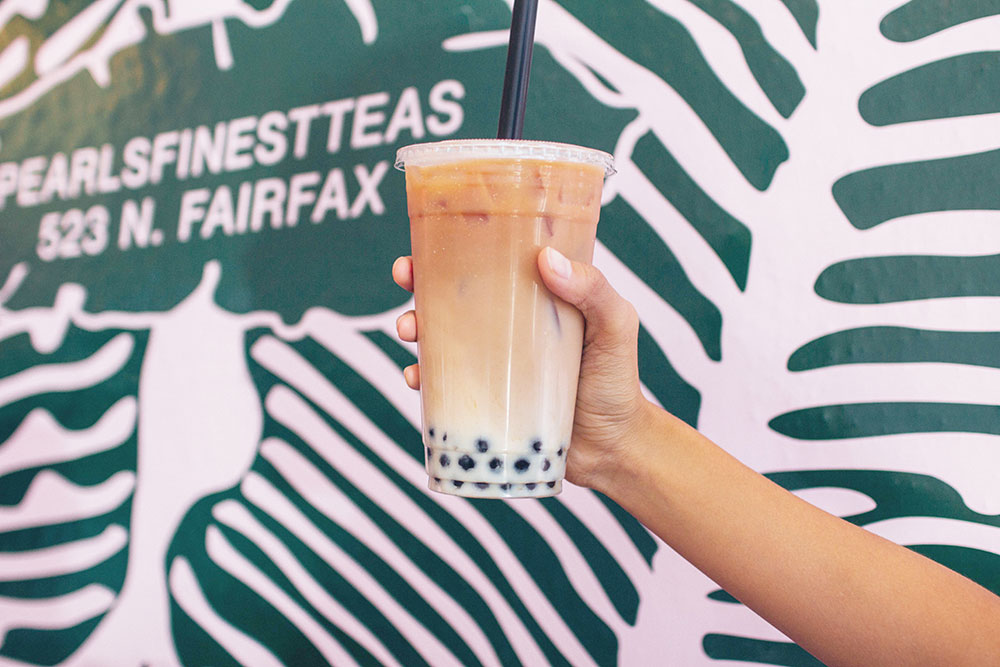 Terry Nguyen | Daily Trojan Boba time · Pearl's Finest Teas offers a wide variety of tea drinks in four different menu categories. The Horchata Milk Tea (above), a mix of Mexican and Asian flavors, is one of the items on the menu.