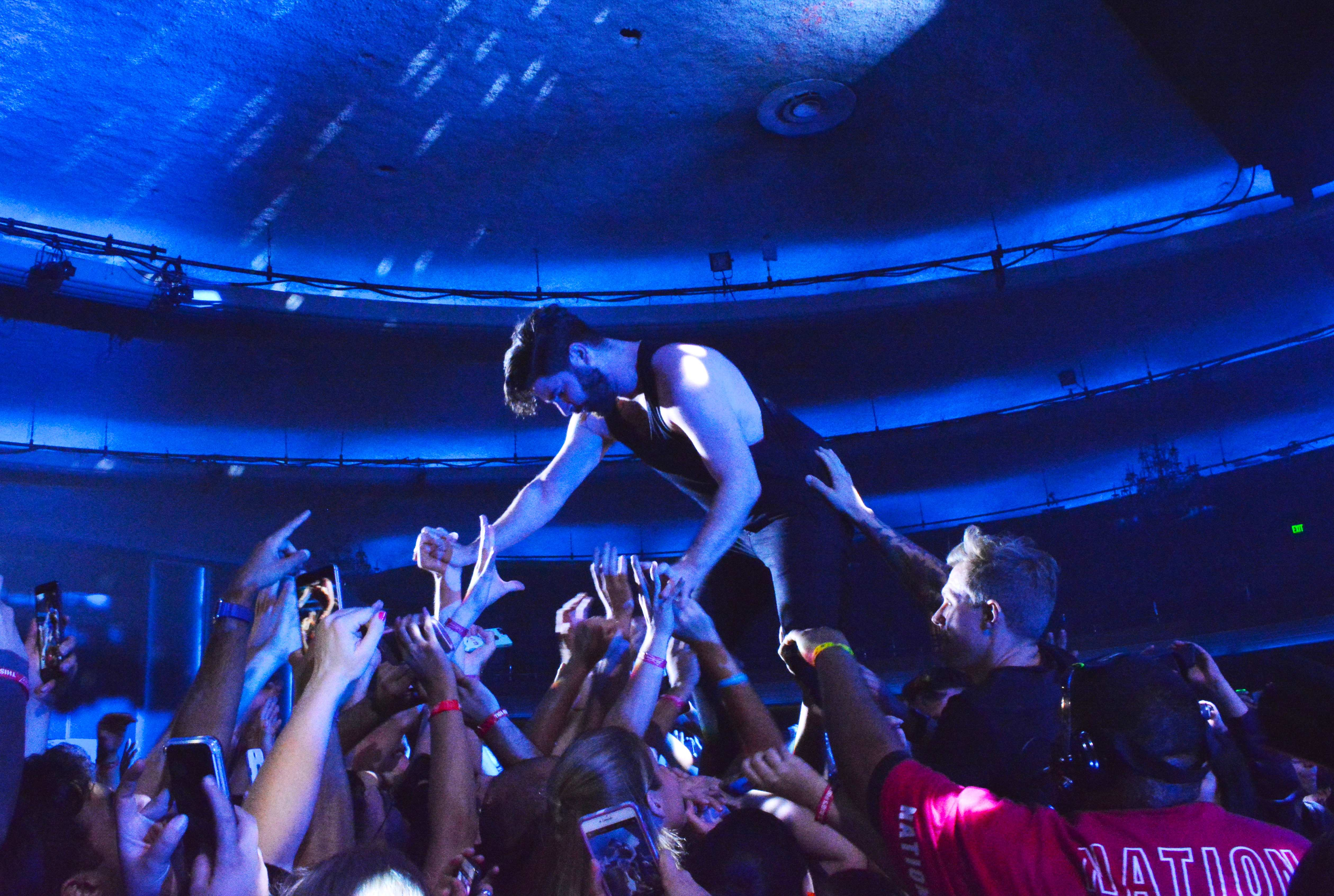 Amanda Verdadero | Daily Trojan Friend or foal · Alternative band Foals performed at the Hollywood Palladium on Tuesday evening. The band released its fourth studio album, What Went Down, in 2015. Lead vocalist Yannis Philippakis (above) engaged with fans by crowd surfing through the audience.