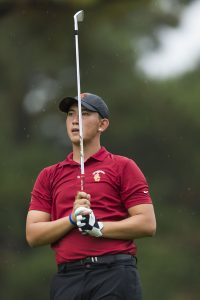 Photo courtesy of Sports Information Trojan tee time · Senior Rico Hoey led the Trojans with a 70.85 stroke average last year and won the the SCGA Amateur in July.