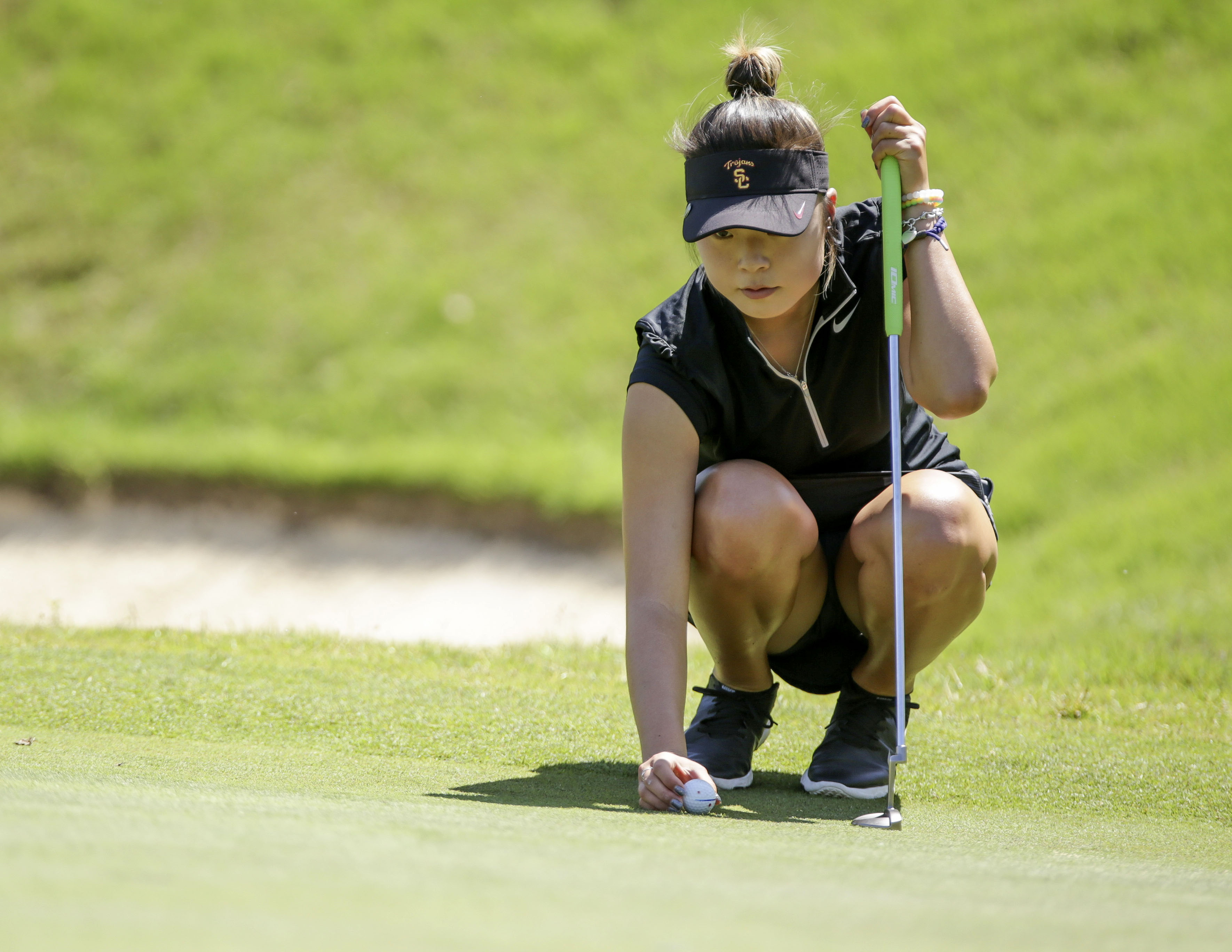 Photo courtesy of Sports Information Never say die · Sophomore Robynn Ree led the team at 5-under on Tuesday to help the Women of Troy to a 13-stroke comeback victory.