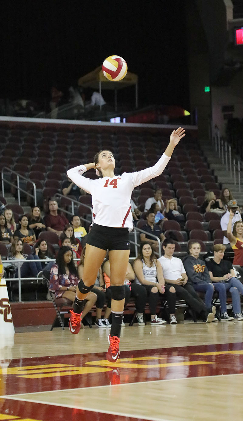 Alexandra Ting | Daily Trojan Home sweet home · Junior setter Reni Meyer-Whalley and the No. 24 Women of Troy have two home games before they take a long road trip.