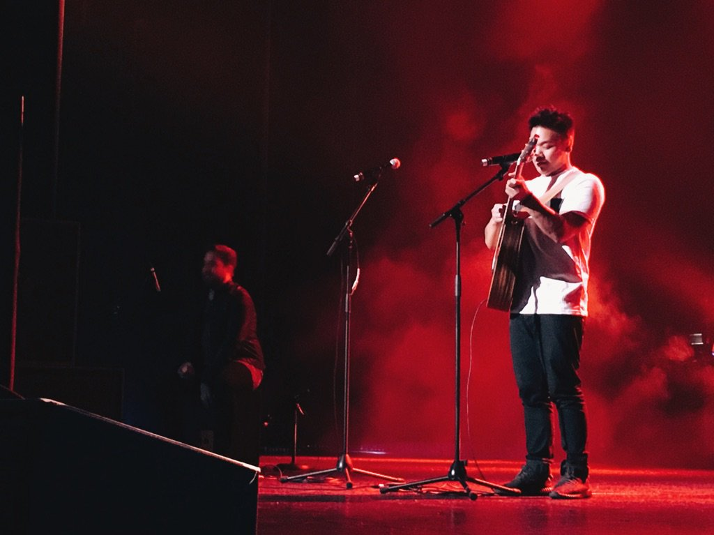 Photo from Twitter Every vote counts · #IAAA held its concert on Sunday evening at the Wiltern. Artists, such as AJ Rafael (above) performed for the audience.
