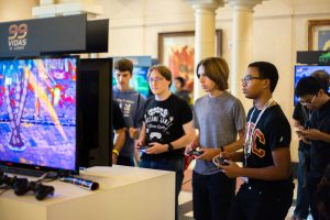 Trevor Sochocki | Daily Trojan Game on · IndieCade brought industry leaders, independent video gamers and students together to celebrate video games. The USC game design program was voted No. 2 in America by the Princeton Review in 2016.