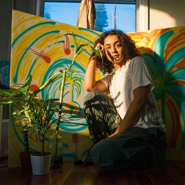 Photo from SparkSC Artistic value · Laura Krostovska-Guerrero, a senior majoring in global studies and a contemporary multimedia artist, will present her art at the event. She conveys themes, such as social justice, in her works.