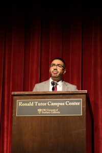 Pankaew Boonbaichaiyapruck | Daily Trojan Digital democracy · Luis Rivera, the South Los Angeles area representative for Mayor Eric Garcetti, spoke at the event on Monday evening.