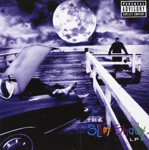 Photo courtesy of Interscope Records Shady's back · The Slim Shady LP is rapper Eminem's second studio album and major label debut. It was the album that was best known for turning Eminem from an unknown rapper to famous star.