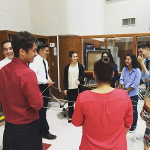Photo courtesy of Shireen Jaffer Skillset · Students participate in an activity hosted by Skillify, a startup founded by a USC alumna to help high schoolers prepare for the workforce.