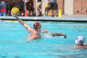 Katie Chin | Daily Trojan Freshman power · Freshman driver Thomas Dunstan notched two goals against Pepperdine as USC defeated the No. 8 Waves on Friday.