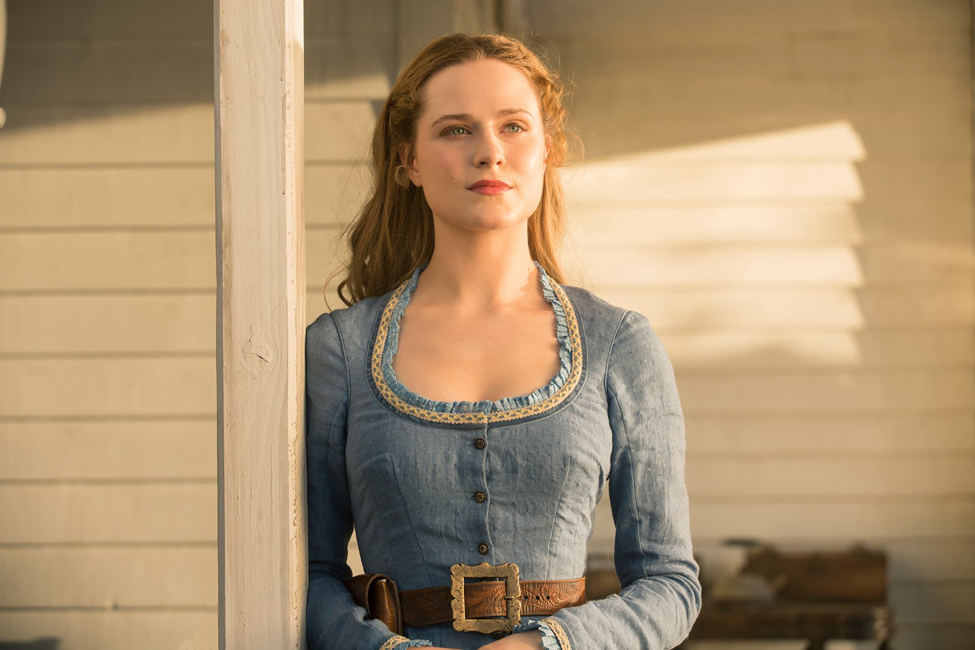 Photo courtesy of HBO  A different world · Evan Rachel Wood (above) plays the role of Dolores Abernathy in HBO's science-fiction thriller series Westworld.
