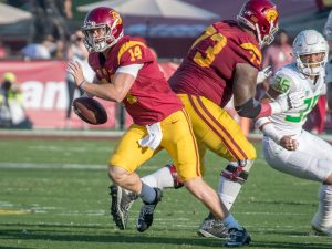 Tal Volk | Daily Trojan Freshman on fire · Redshirt freshman quarterback Sam Darnold has been a large factor in turning the Trojans' season around. Darnold has thrown 22 touchdowns, the most by any freshman in the country.