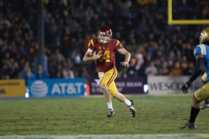 Sam Darnold threw two touchdowns and two interceptions in the win over UCLA - Nick Entin | Daily Trojan