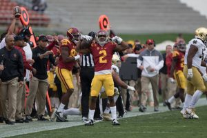 Adoree' Jackson's three touchdowns paced USC in a win over Notre Dame - Nick Entin | Daily Trojan