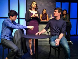 Photo courtesy of Brand New Theatre Act it out · Brand New Theatre is the oldest theater group on campus. From Nov. 10 to 12, Brand New Theatre will present four one-act plays created by students. Written by Ashley Busenlener, Please Stay tells the story of a young actress who loses her family to the show business.