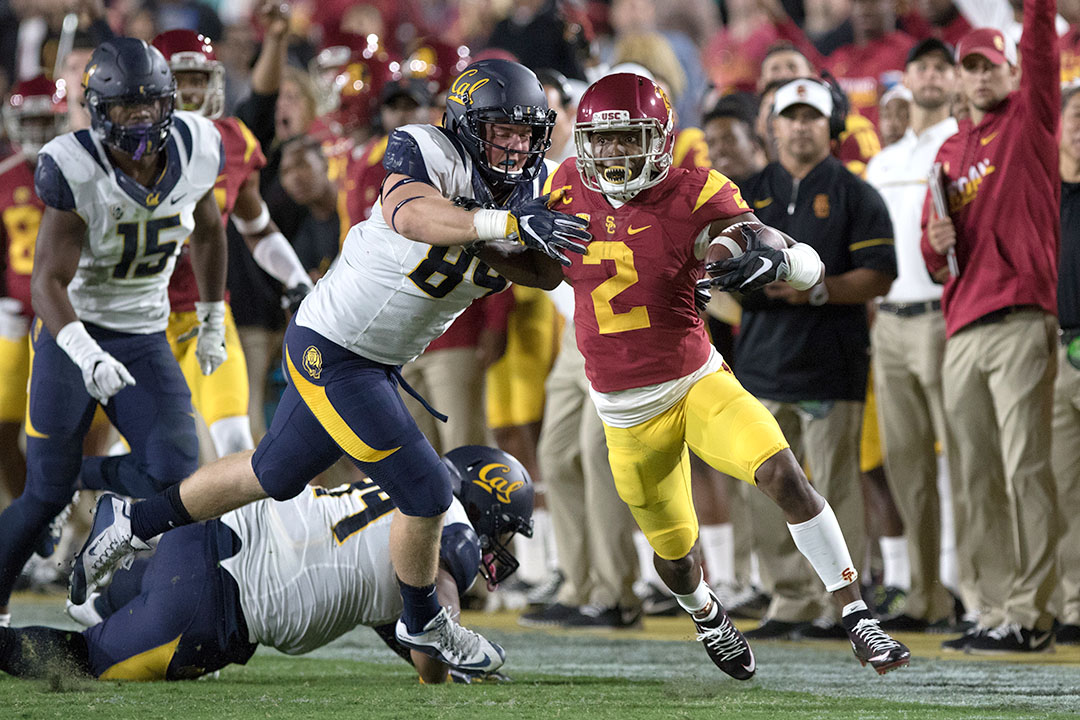 Nick Entin | Daily Trojan Bigger and better · Junior three-way player Adoree' Jackson became USC's all-time leader in kick return yards on Saturday against Cal. Jackson is projected to be a first-round pick in the 2017 NFL draft.