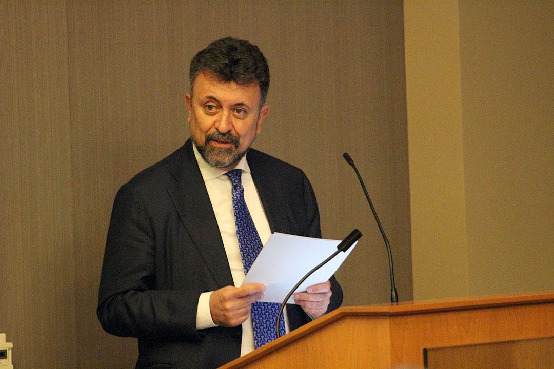 Partners in progress · Carlos García de Alba, general consul of Mexico in Los Angeles, spoke about the importance of the U.S.-Mexico relationship.