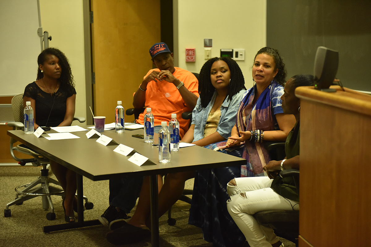 Ziru Ling | Daily Trojan Against hate · Lisa Hines, Melina Abdullah, Pete White and Nyallah Noah discussed Black Lives Matter and relevant issues on Thursday.