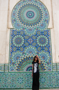 This intricate type of mosaic tile-work features Islamic geometric patterns and is specific to Morocco.