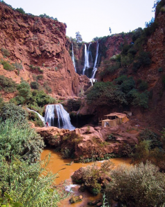 A lot of people think Morocco is all desert, but it's actually home to beautiful falls, lush forests, and natural caves.