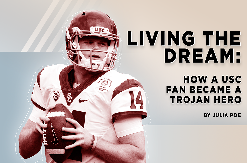hot sales 560b9 01d27 Living the Dream: How Sam Darnold went from USC fan to ...
