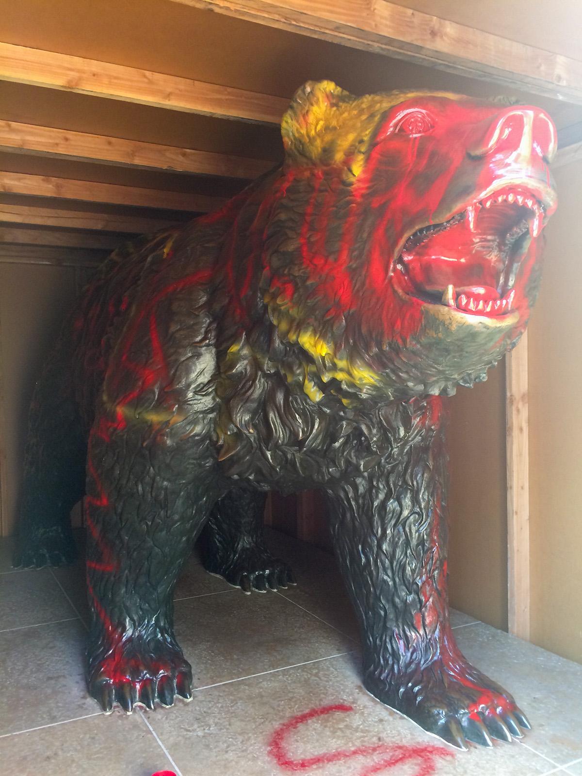 ucla bruin bear found vandalized daily trojan