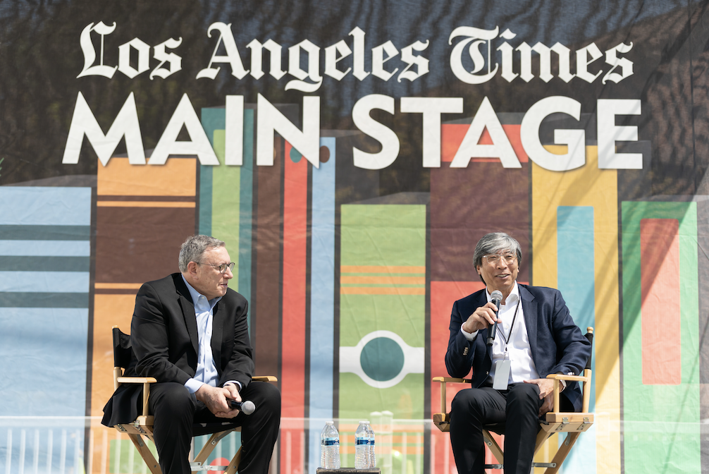 LA Times hold conversation between founder and executive editor at Festival of Books