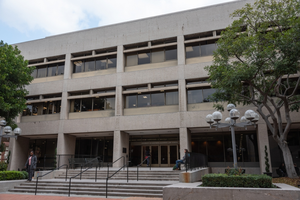 Photo of Gould School of Law building.
