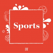 Orange sports stock image.